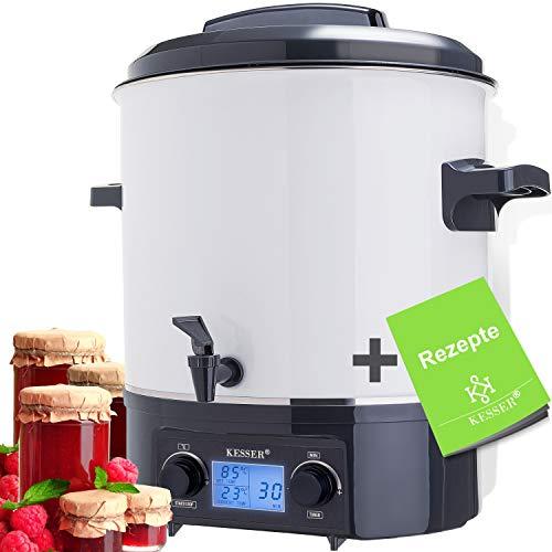 KESSER Einkochautomat 27 Liter Glühweinkocher Glühweinkessel mit Timer | 2000 Watt | Temperatur von 30-100°C | Zeituhr bis 120 Minuten und...