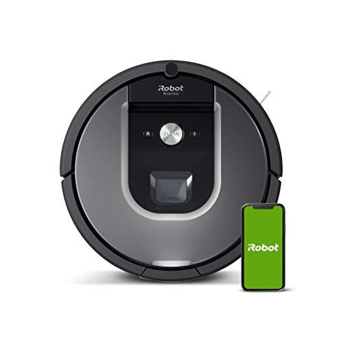 iRobot Roomba 960 Saugroboter mit starker Saugkraft, 2 Multibodenbürsten,...