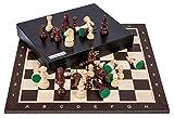 Square - Pro Schach Set Nr. 5 - WENGE LUX - Schachbrett...