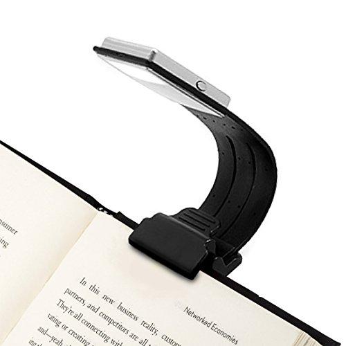 Leselampe Buch Klemme Led Buchlampe mit Zwei Clip und Stufenlos Dimmbar...
