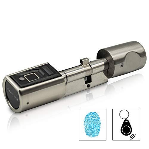 SOREX FLEX - Türschloss biometrisch mit deutschem Support! Türöffner mit Fingerabdruck und RFID Zylinder inkl. Batterien   Keine Schlüssel nötig...