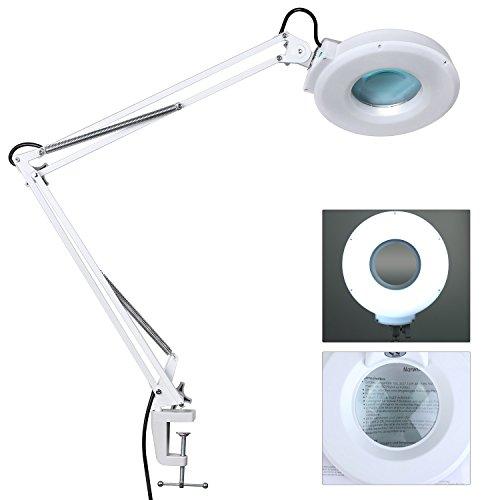 12 Dioptrien WEISS Tisch-Lupenleuchte Lupenlampe NETZANSCHLUSS Linse: 3