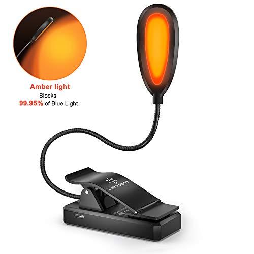 LENCENT Leselampe Buch Klemme, Buchlampe mit Blaulichtblockierung, Augenpflege für besseren Schlaf, LED Klemmleuchte Flexibel für Nachtlesen, Büro,...