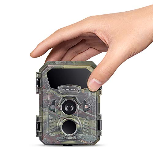 APEMAN Mini Wildkamera 16MP 1080P wasserdicht nach IP66 mit 16 GB SD-Karte 850nm...