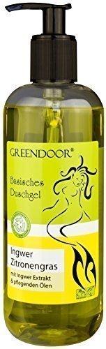 500ml Greendoor Basisches Duschgel Ingwer-Zitronengras - biologisch abbaubar, Natur für Ihre Haut aus der Naturkosmetik Manufaktur, ohne Silikon,...