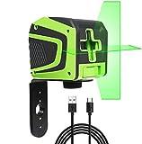 Laserska zelena križna črta, samonivelirna Huepar ...