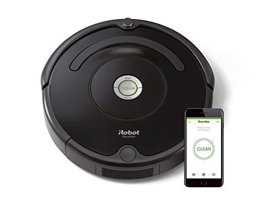 iRobot Roomba 671 WLAN Saugroboter, Dirt Detect Technologie, 3-stufiges Reinigungssystem, Reinigungsprogrammierung per App, Staubsauger Roboter, ideal...