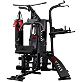 AsVIVA multi-gym MG6 Pro, 50in1, 90kg boks-kampsport multi-gym, dip-stasjon, ...