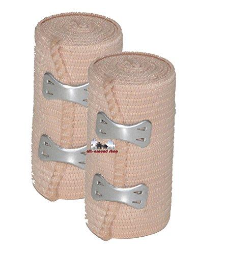 2 Stück all-around24® Elastikbandage Bandage...