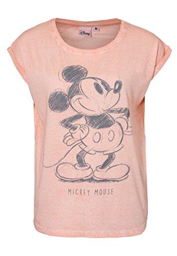 Rock Angel Damen T-Shirt mit Strass-Steinen im Comic Stil Rose L