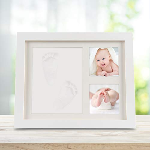 Bilderrahmen 3 teile, wei/ß Newlemo Gipsabdruck Baby Hand und Fu/ß Baby Handabdruck und Baby fu/ßabdruck DIY Set Abdruck des Rahmen Geschenk