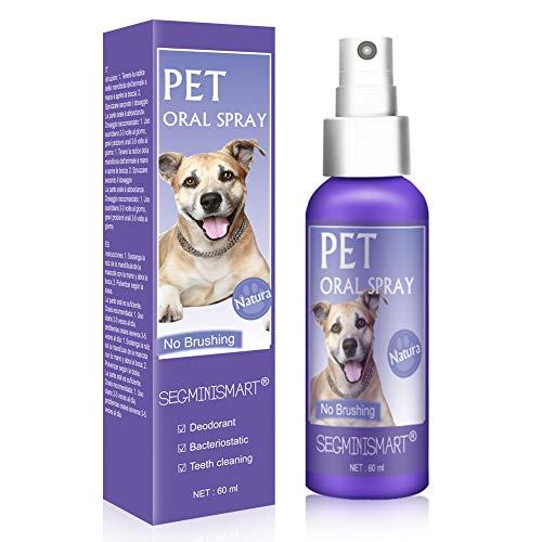 SEGMINISMART Dentalspray für Hunde und Katzen, Dental Care Spray, Zahnpflege...