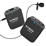 SYNCO Lavalier radio microphone G1 (A1), 2,4GHz wireless clip-on microphone system, Wireless Microphone Mics up to ...