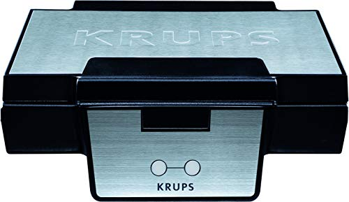 Krups Waffeleisen FDK251 | Doppelwaffeleisen | 2 Belgische Waffeln gleichzeitig...