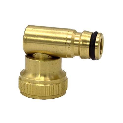 Messing blank VARIOSAN Stecksystem Schlauchkupplung mit Wasserstop 13033 3//4