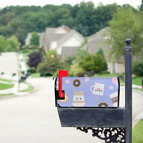 YXUAOQ Süße Boba grüner Tee Trinken Standardgröße Original Magnetic Mail Anschreiben Briefkasten 21 x 18 Zoll Briefkasten deckt saisonale...