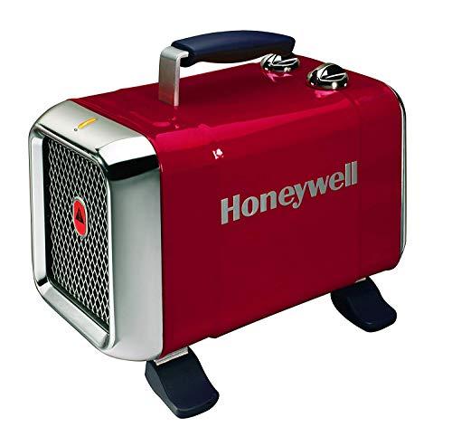 Honeywell HZ-510E Keramik-Heizlüfter in rot/Chrom,...