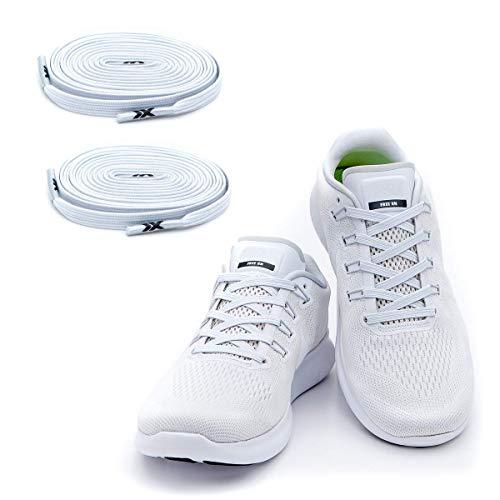 MAXX laces Flache elastische Schnürsenkel mit Einstellbarer Spannung Schuhbänder ohne Binden komfortable Schuhbinden einfach zu bedienen Passt zu...