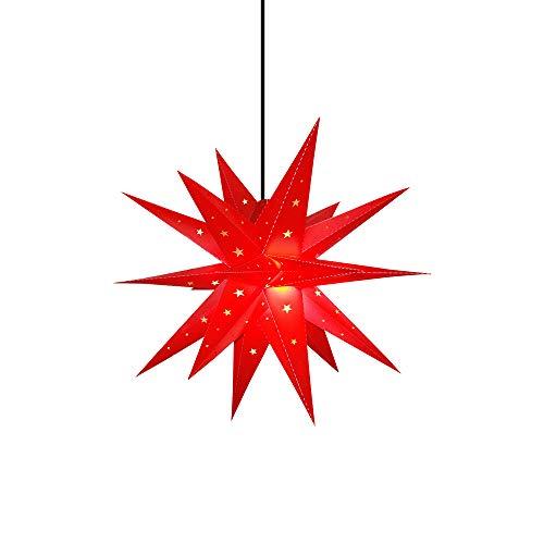 Außenstern rot led beleuchteter Stern ca. 58 cm Weihnachtsstern Leuchtstern...