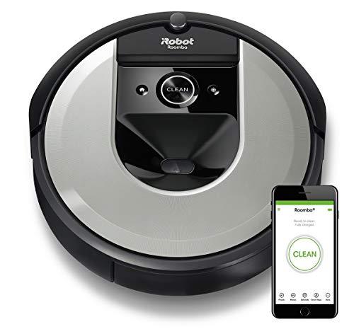 iRobot Roomba i7 (i7156) Saugroboter, 3-stufiges Reinigungssystem, intelligente Raumerfassung, Zeitplanreinigung, 2 Multibodenbürsten, WLAN App...