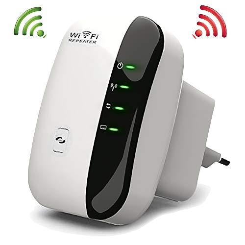 Conhee WLAN Repeater (300Mbit/s, kompatibel mit Allen WLAN Geräten) WLAN Range Extender Wireless Access Point WiFi Booster mit WPS und LAN Ports -...