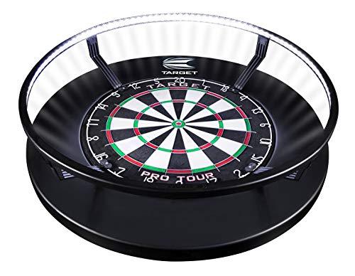 Target Darts Corona Vision Dartboard-Beleuchtungssystem Dartboardschränke & Kabinette, Schwarz, mit Weißem LED-Licht