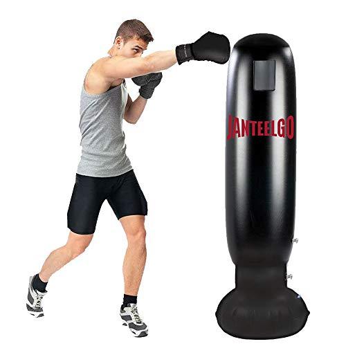 Gemgo Boxsack, Standboxsack 160cm, Boxsack Kinder für Kinder und Erwachsene, Boxsack Stehend ab 5 Jahren zum Üben von Karate, Taekwondo, MMA, Druck...