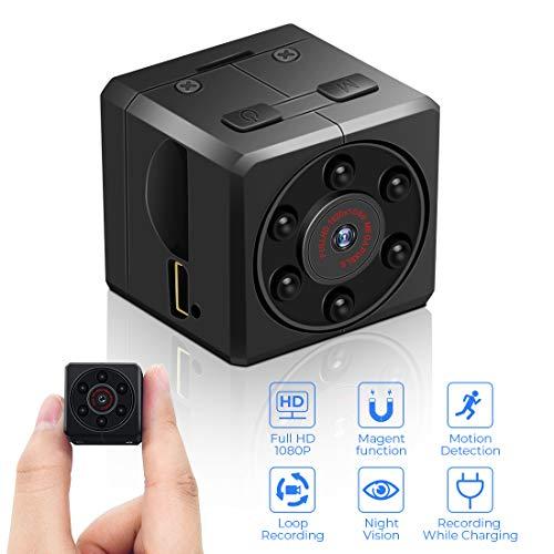Mini Kamera, euskDE Full HD 1080P Tragbare Kleine Überwachungskamera, Mikro versteckte Kamera mit Bewegungserkennung und Infrarot Nachtsicht, Compact...