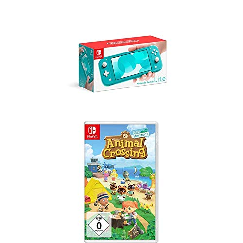 Nintendo Switch Lite, Standard, türkis-blau + Animal Crossing: New Horizons...