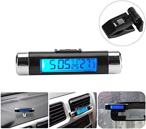 Auto-Thermometer mit Hintergrundbeleuchtung f/ür den Innenraum schwarz Temperaturanzeige Technoline Thermometer WS 7009 Luftfeuchteanzeige