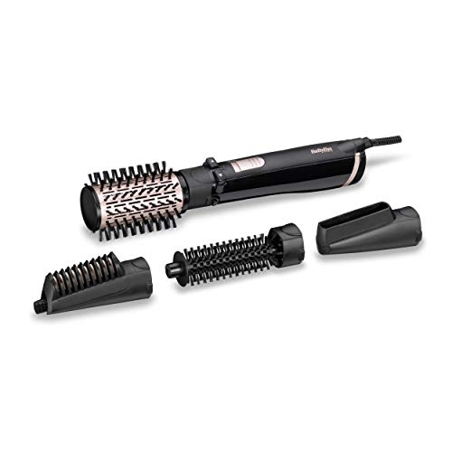 BaByliss AS200E Rotierende Warmluftbürste Set Brush & Style Ionic, 1000 Watt, 4...