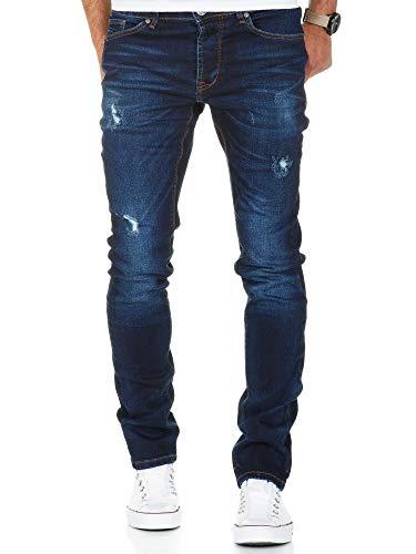 Amaci&Sons Herren Stretch Basic Slim Fit Denim Jeans Hose 7998