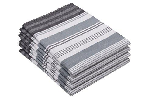 ZOLLNER 4er Set Geschirrtücher 50x70 cm, Baumwolle, grau (weitere verfügbar)