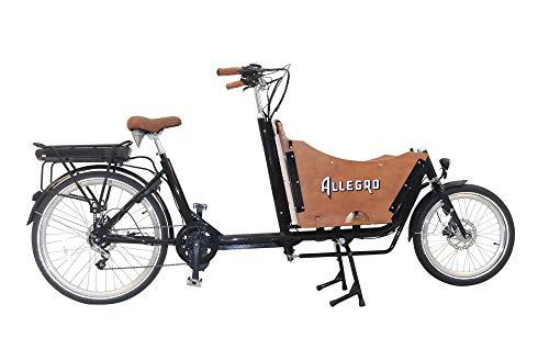 Allegro E-Cargo Transport E-Bike Lastenrad E-Lastenrad 26 Zoll Schwarz/Holzfarben bis zu 150 kg