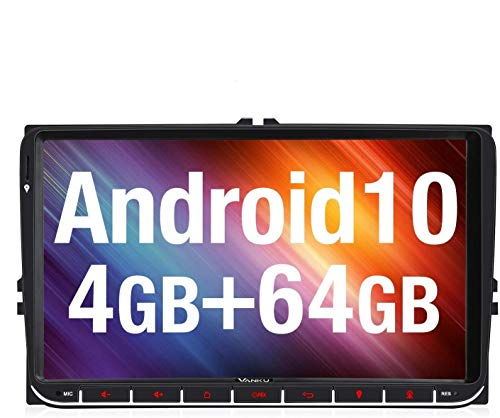 Vanku Android 10 Autoradio für VW Radio Mit Navi PX6 64GB+4GB / 16GB...