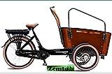 Elektro Transportfahrrad/Bakfiets Vogue Carry 7 Gang Braun-Schwarz