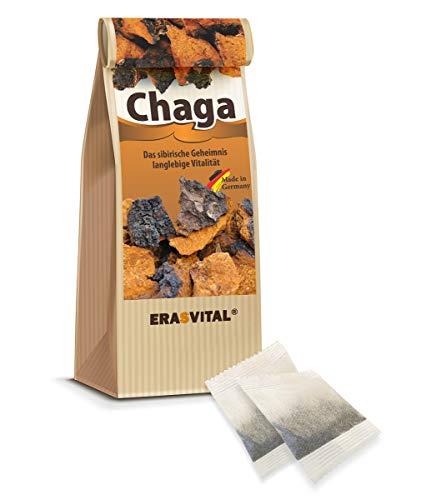 CHAGA NATUR-TEE 60 Teebeutel = 60 g OHNE TASSENREITER OHNE DEKOR Pilz aus Sibirien natürlich wild gesammelt Schonend getrocknet Roh & Vegan In...
