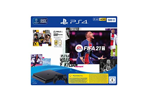 PlayStation 4 Slim Konsole - 500 GB Jet Black mit EA...