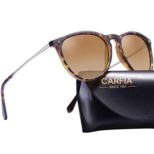 Carfia Vintage Polarisierte Sonnenbrille für Damen Herren UV400 Schutz...