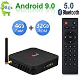 Greatlizard TX6 Android 9.0 Smart TV Box 4GB RAM 32GB ROM Vier Kern 4K HD Auflösung Dual WiFi 2.4G/5G Bluetooth 5.0 Set Top TV Box