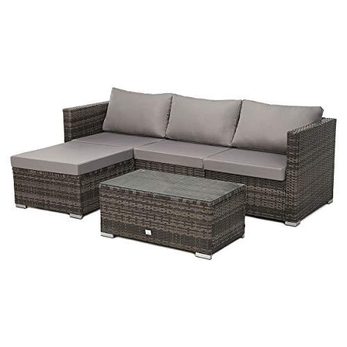 SVITA Queens 2020 Poly Rattan Sitzgruppe Couch-Set...