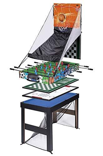 PLAYTIVE Multifunktionsspieltisch 16in1 Spieltisch Tischfußball Billard Spiele