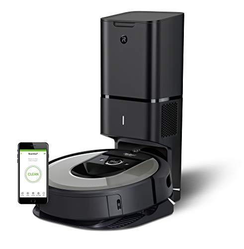 iRobot Roomba i7+ (i7556) Saugroboter, automatische Absaugstation, intelligente Raumerfassung, Zeitplanreinigung, 2 Multibodenbürsten, WLAN...