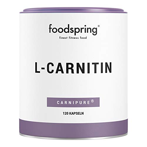 foodspring L-Carnitin Kapseln, 120 Stück, Vegan, Ideal für das Figur-Training mit 1200mg Carnipure pro Portion, Hergestellt in Deutschland mit...