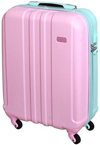 Handgepäck Bordgepäck Hartschalen Koffer Trolley TSA Schloss 30 Liter Rosa Mint