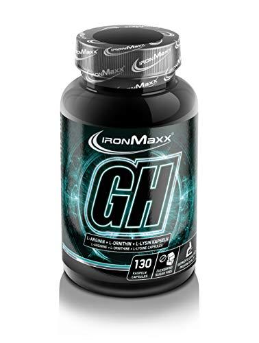 IronMaxx GH-Ultra Strong - 130 Kapseln - L-Arginin Caps - hochdosiert mit 1050mg...