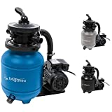 Miganeo 40385 sand filter system Dynamic 6500 pump capacity 4,5m³ blue, gray, black, for pool ...