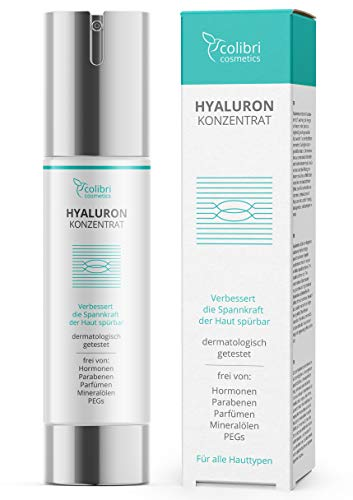 Hyaluronsäure Serum hochdosiert - Testsieger 2021 - Natürliche Hyaluron...