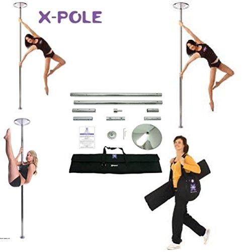 X-Pole Xpert Spinning & Statische Pole und gratis X-Pole Mikrofasertuch 45 mm