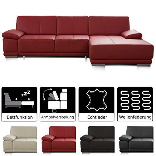 Bruin Leren Bank Met Longchair.Couch Red Leather Top 10 Eerlijke Tests